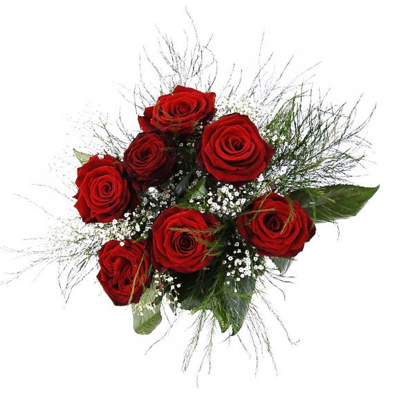 Rosenstrauß in rot