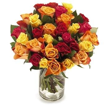 Bunter Strauß aus Rosen