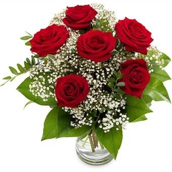 Rotes Liebesfeuer, Rosenstrauß