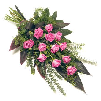 Trauerstrauß rosa Rosen