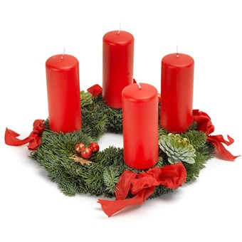 Traditioneller Adventskranz